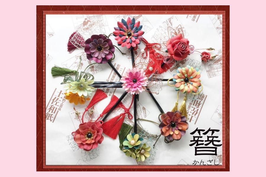 Atelier Heartful JPAスキルアップ講座 和紙で作るかんざし・アクセサリー